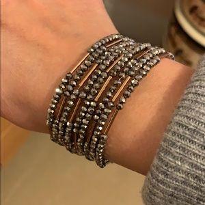Stella and Dot accordion beaded bracelet